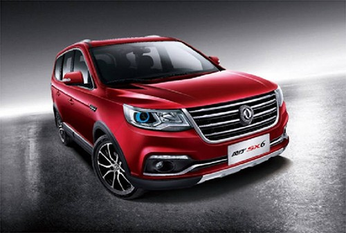 """中国东风汽车公司下个月将在韩国上市的中大型SUV""""SX6"""""""
