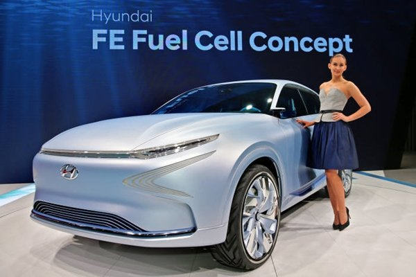 Concept of 'FE hydrogen fuel cell electric vehicle' introduced by Hyundai Motor Company in last May at '2017 Seoul Motor Show'