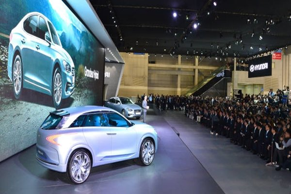 Hyundai Motor Company's 'FE Fuel Cell Concept' introduced at Seoul Motor Show in last March