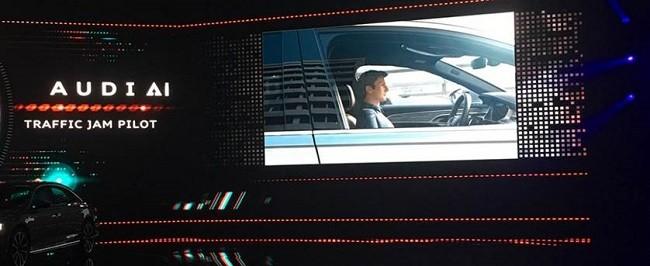 아우디 A8에는 신규 자율주행 기술을 포함해 다양한 엔비디아 기반 첨단 기술들이 적용되어 있다