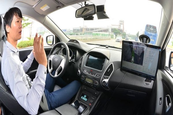 Picture of Hyundai Motor Company testing its self-driving technology at its laboratory in Namyang
