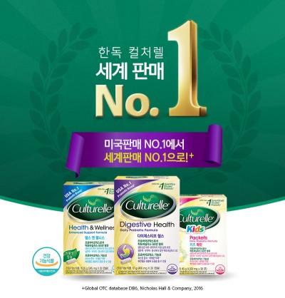 한독의 락토바실러스GG 100% 프로바이오틱스인 '컬처렐'이 전 세계 유산균 판매 1위에 올랐다. 사진=한독 제공