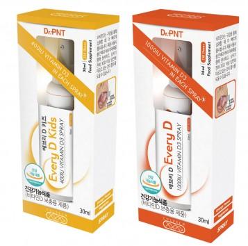 녹십자웰빙의 병·의원 전용 건강기능식품 브랜드 'Dr.PNT'가 스프레이형 고함량 비타민 제품인 '에브리D'를 출시했다. 사진=녹십자웰빙 제공