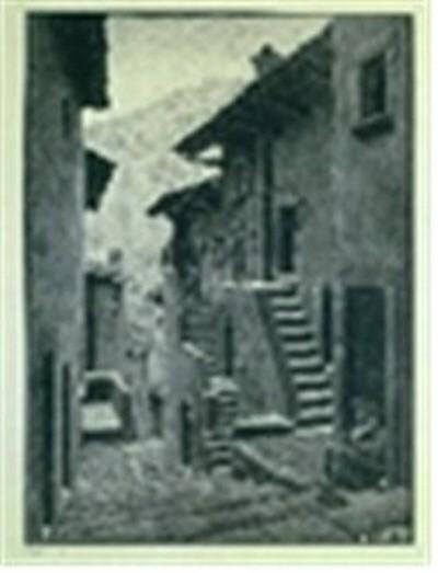 스칸노의 거리, 아부루치(Street in Scanno, Abruzzi), 석판화, 83x63cm, 1930. 사진=와이제이커뮤니케이션 제공