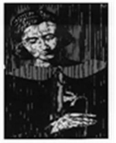 에셔 우미커 제타의 초상화(Portrait of G. Escher- Umiker), 목판화, 68x50cm, 1925. 사진=와이제이커뮤니케이션 제공