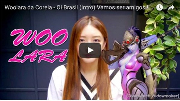 Woo Lara of Korea - Hi brazil (intro) Let's be friends!! | Woo Lara, 촬영 방법도, 편집법도 모르는 채로 다짜고짜 만들게 된 첫 영상. 사진=유튜브 Woo Lara 우라라 제공