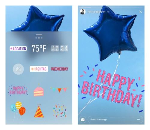 인스타그램이 스토리 출시 1주년을 맞아 특별 스티커 팩을 공개했다.