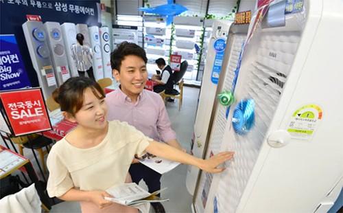 季节性家电畅销 上半年韩国家电内需销量增加8%