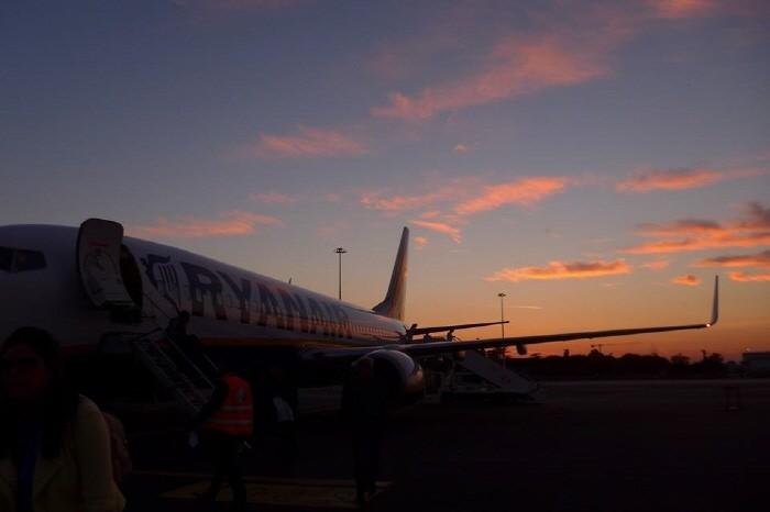 로마 참피노 공항 도착