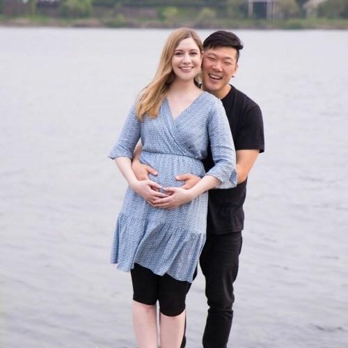 임신 후 첫 야외 사진 촬영. 사진=마이 코리안 허즈번드 제공