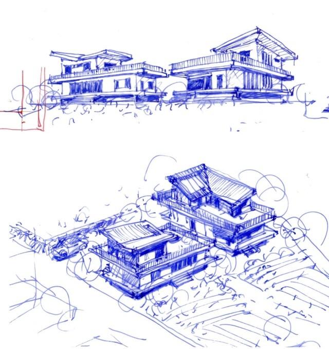 컨셉 스케치 : 건축가 이관직, 스케치 표현에 있어 한국을 대표하는 건축가