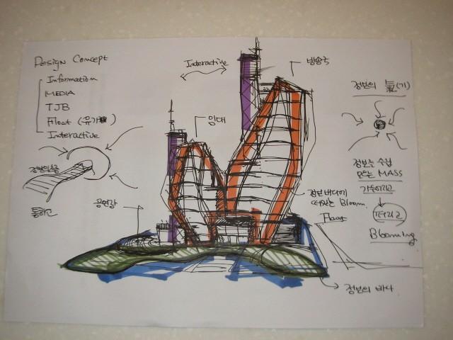 대전 TJB 방송국 개념스케치 : 윤창기