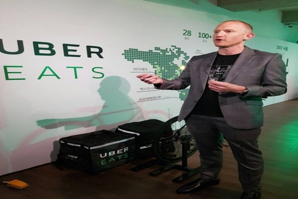 Allen Penn who is the head of UberEATS for Asia Pacific region (Picture = Database from The Electronic Times)