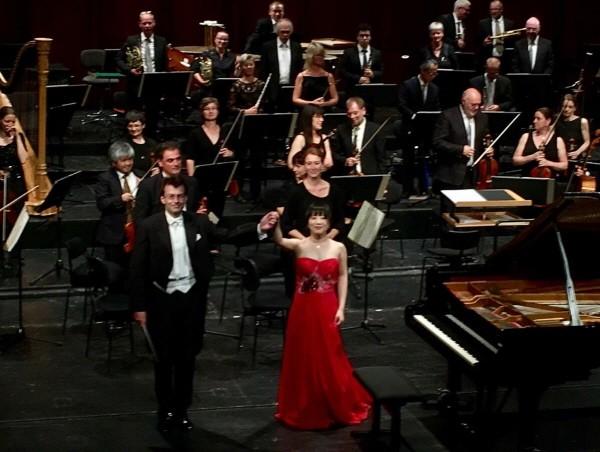 독일 브레머하펜 극장오케스트라와 협연 무대. 사진=최현아 제공