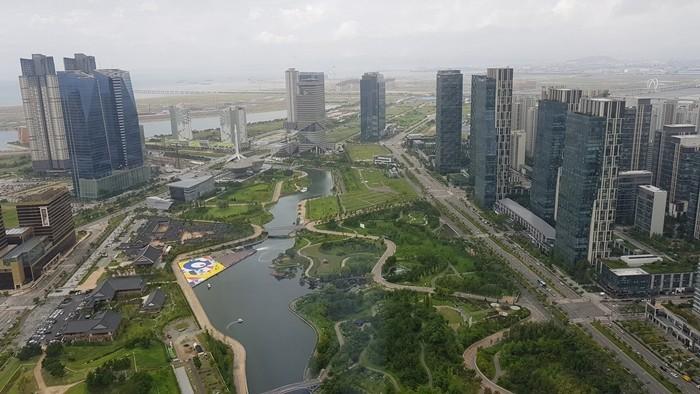송도센트럴파크의 주경 (사진 :정은철)