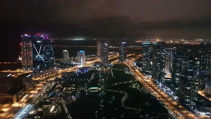 송도센트럴파크의 야경 (사진 :정은철)