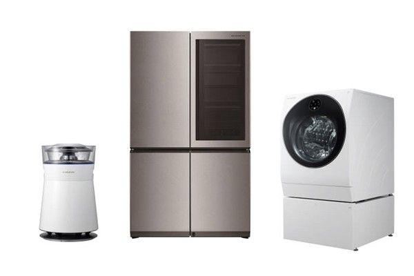 LG Electronics' Signature home appliance lineup that can be linked to Google Assistant