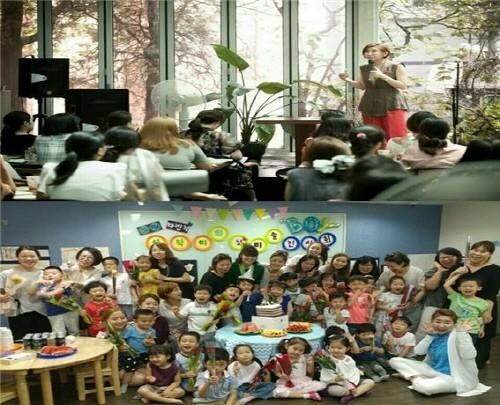 임서영 소장이 전국에 부모와 자녀를 대상으로 강연하는 모습으로, 부모와 자녀들에게 영재교육을 통해 감동과 진심을 전하고 있다. 사진=임서영영재교육연구소 제공