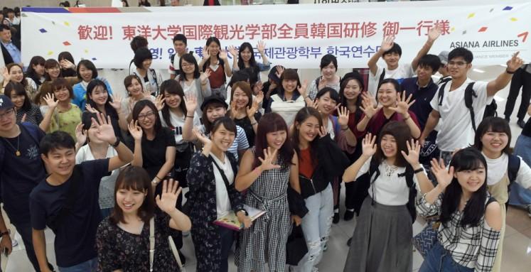일본 관광학과 대학생 372명, 아시아나항공 주요시설 견학