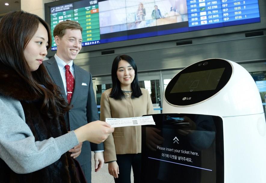 LG전자 인천국제공항 안래로봇 시범서비스