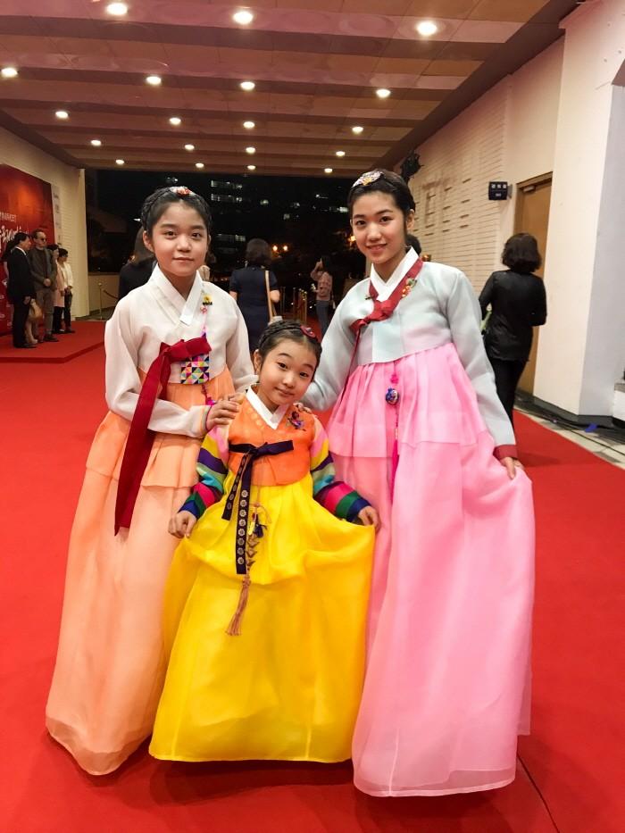 (좌측부터)유은미·이한서·박가람 등 아역스타 3인방이 한국과 중국 영화계의 큰 잔치 '제1회 한중국제영화제'에 참석했다. (사진=아이케이엔터테인먼트 제공)