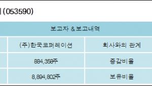 [ET투자뉴스][한국테크놀로지 지분 변동] (주)한국코퍼레이션 외 2명 1.79%p 증가, 21.09%