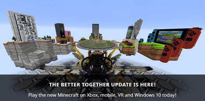 마인크래프트 대규모 업데이트인 '베터 투게더 업데이트(Better Together Update)'