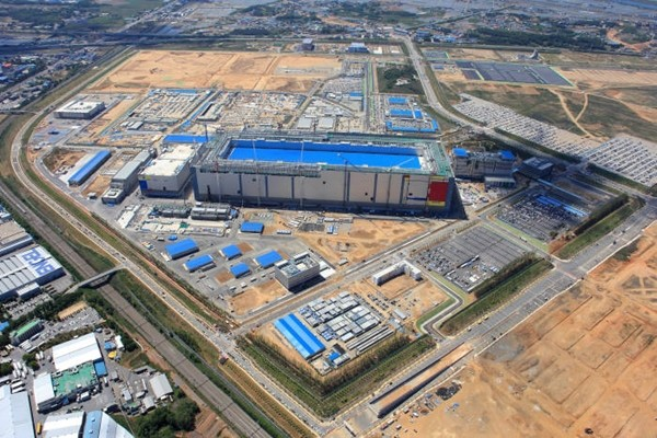 Aerial view of Samsung Electronics' Pyeongtaek Campus