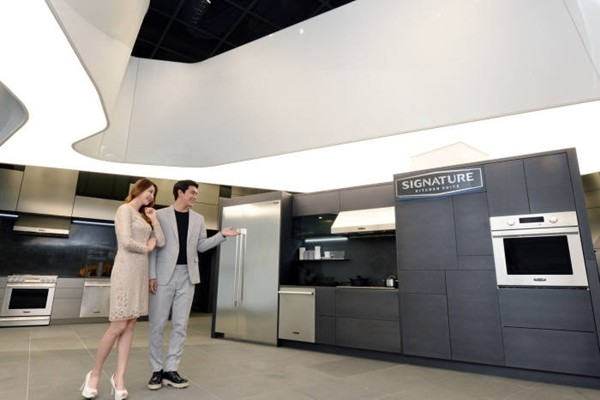 LG Electronics' ultra-premium build-in home appliance called 'Signature Kitchen Suite Showroom'