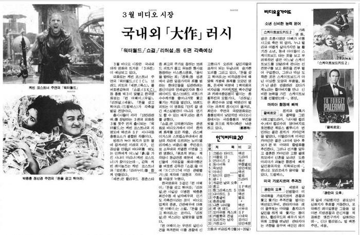 비디오 시장 소개 – 네이버 뉴스라이브러리 제공