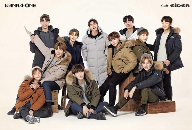 대세 아이돌 그룹 '워너원'이 아웃도어 광고도 접수했다. 사진=아이더 제공