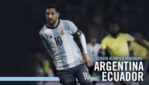 [아르헨티나 에콰도르] 메시, 위기의 아르헨티나 구해낼까...전반 2골 폭발