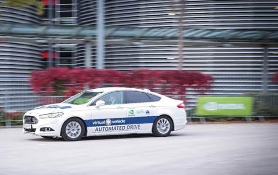 Virtual Vehicle의 자동화 주행 시연차가 GTC 유럽에서 자율주행을 선보이고 있다'