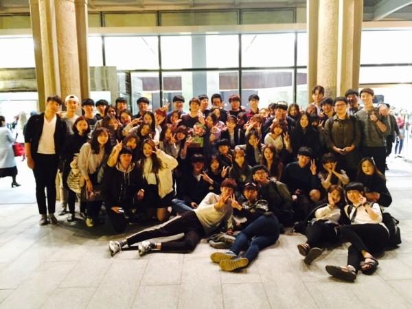 '카르멘' 공연 후 서일대 제자들과 함께. 사진=박준희 페이스북 제공