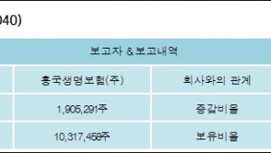[ET투자뉴스][KR모터스 지분 변동] 흥국생명보험(주)0.71%p 증가, 5.49% 보유
