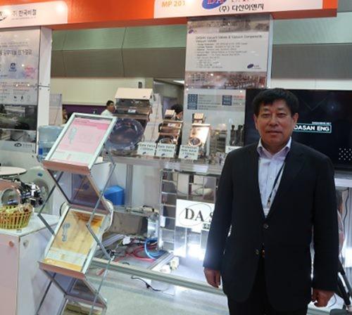 사진-한국전자전(KES) 2017에 참석한 ㈜다산이엔지 김도열 대표
