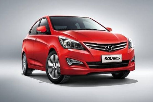 Hyundai Motor Company's Solaris that is being sold in Russian market
