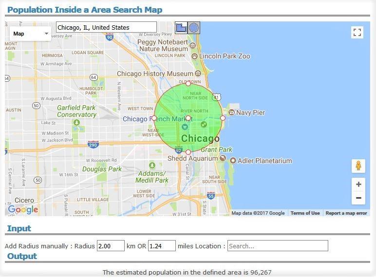 시카고 도심 인구