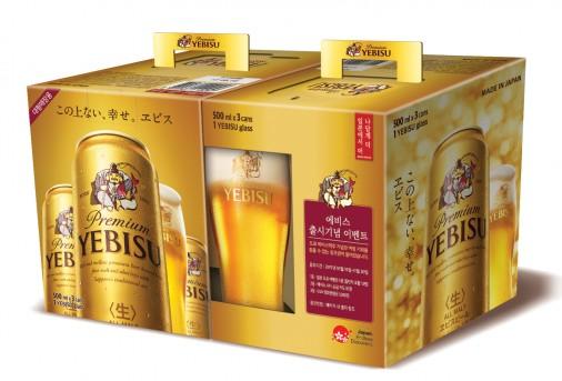 지난 9월 가정용 캔맥주를 선보이며 국내 소비자들에게 본격적으로 이름을 알리기 시작한 일본 맥주 브랜드 `에비스맥주`가 프리미엄이라는 자존심을 버렸다. 사진=엠즈베버리지 제공