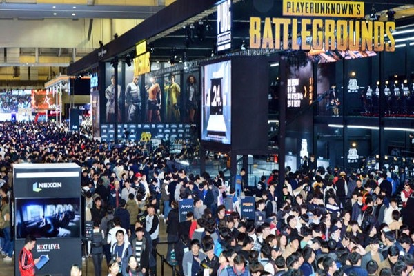 Spectators who visited booths of Bluehole and PUBG at G-STAR 2017