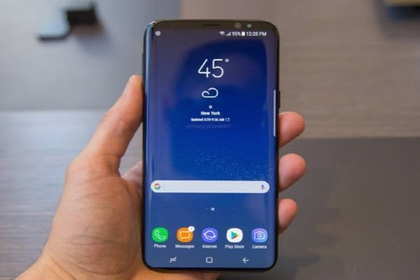 Expected image of Galaxy S9 that was shown through SNS