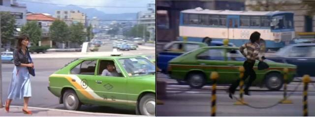 """영화 """"꽃순이를 아시나요""""에 나오는 무지개 택시, 포니"""