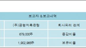 [ET투자뉴스][수성 지분 변동] (주)공평저축은행 외 1명 6.07%p 증가, 21% 보유