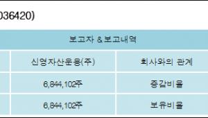 [ET투자뉴스][제이콘텐트리 지분 변동] 신영자산운용(주)6%p 증가, 6% 보유