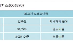 [ET투자뉴스][휴니드테크놀러지스 지분 변동] 김유진 외 3명 -0.43%p 감소, 21.46% 보유