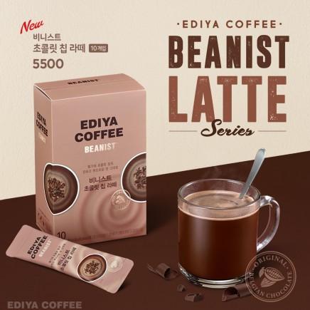 이디야커피가 카페인이 없는 논커피(Non-coffee) 제품인 '비니스트 초콜릿 칩 라떼'를 출시했다. 사진=이디야커피 제공