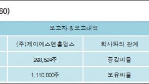 [ET투자뉴스][에이씨티 지분 변동] (주)제이에스엔홀딩스 외 1명 4.88%p 증가, 18.15% 보유