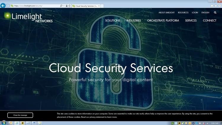 라임라이트의 '디도스 공격 인터셉터(Limelight DDoS Attack Interceptor)'