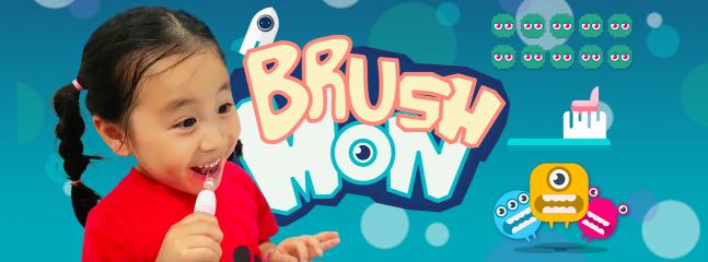 브러쉬 몬스터 앱과 스마트 칫솔