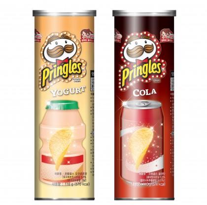 글로벌 감자칩 브랜드 '프링글스' 국내 소비자들을 위해 세계 최초로 요구르트와 콜라 등의 음료 맛을 그대로 구현한 이색 한정판 제품을 국내에서 선보였다. 사진=프링글스 제공